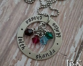 JBK Hand stamped Family necklace