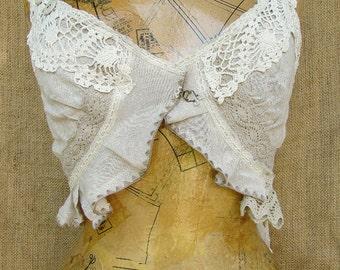 Linen crop camisole