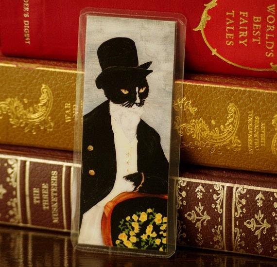 Mr Darcy Cat Bookmark, Pride and Prejudice Laminated Paper Bookmark
