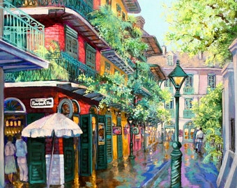New Orleans Art, Pirates Alley, New Orleans Alley, New Orleans Painting, New Orleans Print, New Orleans French Quarter  FREE SHIPPING!