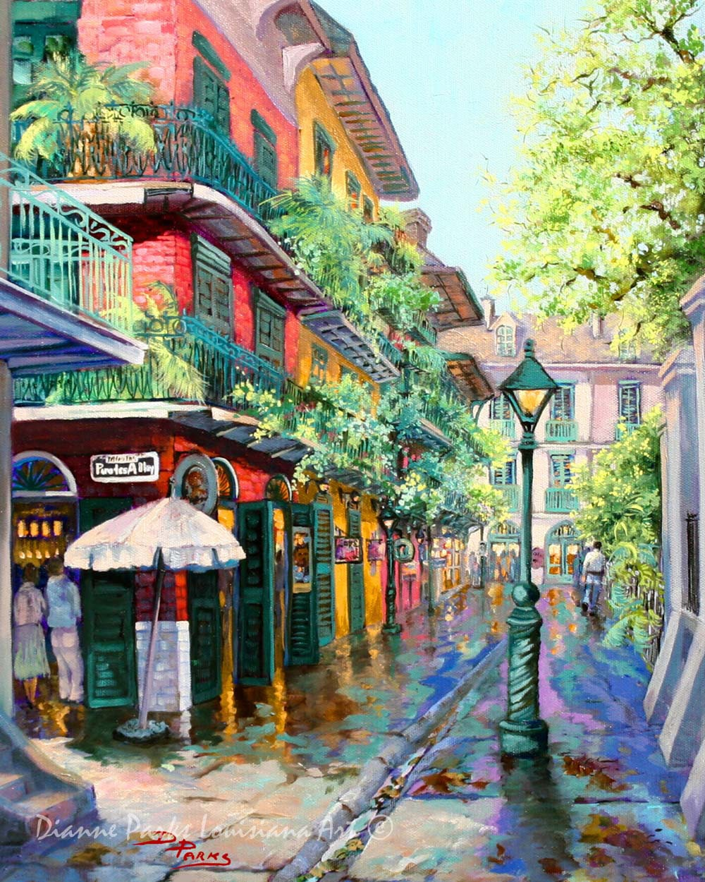 Latest French Manicure Designs: Pirates Alley Impressionist Alley View New Orleans Famous
