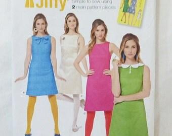 Simplicity Jiffy 1960's Vintage Dress sewing pattern 1609 size H5 6-14