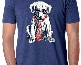 dog - dog shirt - dog tshirt - mens shirts - dog lover tshirt - dog lover gift - hipster shirt - funny tshirts -SPECTACLE PUP - crew neck