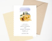 Italian Villa Save The Date - Florence and Tuscany Destination Wedding, Wedding Announcement