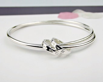 Personalised Silver Bangle- Secret Silver-silver bangle-personalized bangle-new baby gift-new mum gift-mother's day gift-best friend gift-uk
