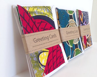 Handmade cards, unique cards, cards from africa, Products that give back, fabric cards, eco-friendly greeting cards, fair trade gift, malawi