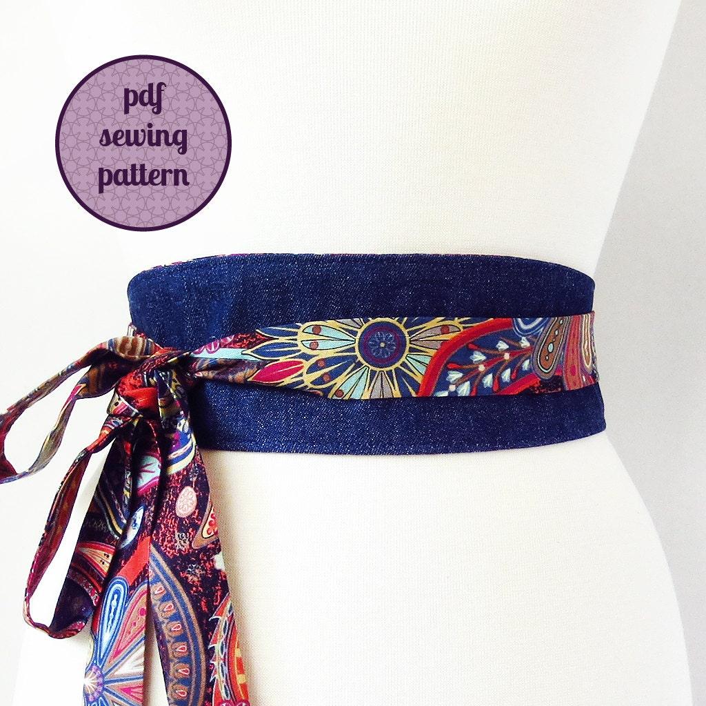 Sewing Pattern Reversible Obi Belt Pdf For Immediate