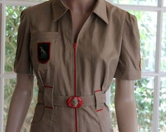 1940s Vintage style 'Sports Wear'. Overalls / Land Army / Boiler Suit.