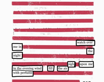 I Haved Loved-Blackout Poetry C-Print by Staunch Studio 8x10