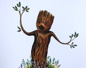 Groot (8.5X11 Art Print)