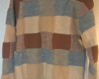 Vintage 70s 80s Pullover Sweater by MK Today, Wintuk Orlon Acrylic, Milwaukee Knit