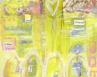 good friend - ART CARD - ecofriendly
