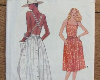 vintage vogue pattern 8935 misses dress sz 6-8-10 uncut