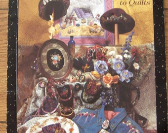 vintage 1995 embroidery pattern book RIBBON EMBROIDERY from clothing to quilts