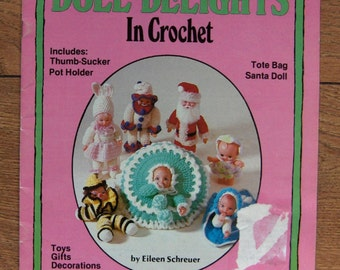 vintage 80s crochet patterns doll clothes children toy doll delights