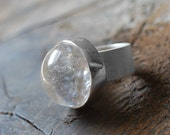 Crystal Ball Ring Sz 6