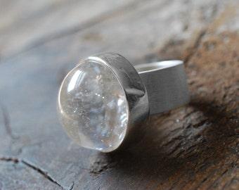 Crystal Ball Ring Sz 6