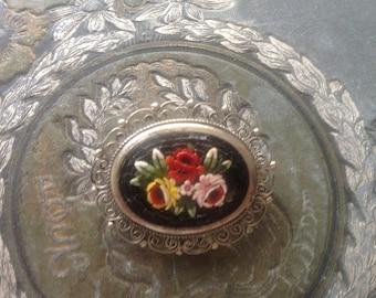 Vintage Italian Micro Mosaic Brooch