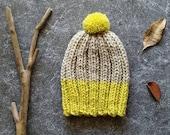 Chunky Knit Hat, Pom Pom Hat, Last Minute Gift, Pom Beanie, Wool Hat, Mens Winter Hat, Chunky Hat, Winter Beanie, Chunky Beanie