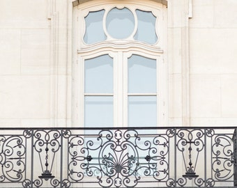 Paris Photograph - A Window on Paris, Architecture Travel Photography,  Large Wall Art, Neutral French Home Decor, Fine Art Photo