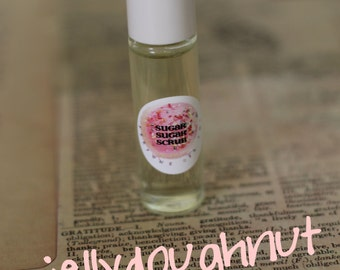 Perfume Oil Roll On - Jelly Doughnut - Gift for her - 7ml - Paraban & Phthalate Free, Vegan Perfume - Stocking Stuffer - Gift for Teens