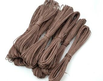 Brown Hemp Twine, 5 x 27 Feet,  1mm Hemp,   String,  Craft  Cord -JC01