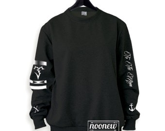 Michael Clifford Tattoos Sweatshirt Sweater Crew Neck Shirt Add Clifford  95 – Size S M L XL