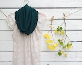 Green Scarf, Infinity Scarf, Jersey Scarf, Circle Scarf, Dark Green Scarf, Greenery Scarf, Lush Meadow, Winter Scarf, Gift Idea for Her