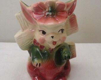 Vintage Easter Bunny Planter Vase