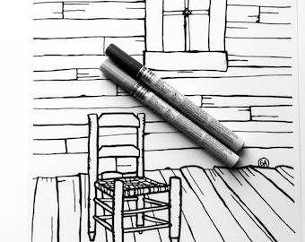 Coloring Page - Dwayne's front porch chair - Download