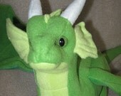 Spring Dragon Plush - One of a Kind handmade