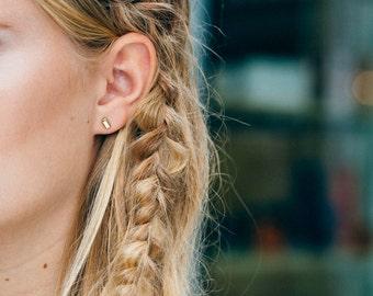 Bar Stud Earrings | Mini Bar Stud Earrings | Gold, Rose Gold or Sterling Silver