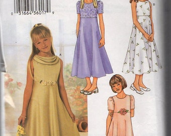 "Butterick 3714 ""Girls' Dress"" Girl 12,14,16"