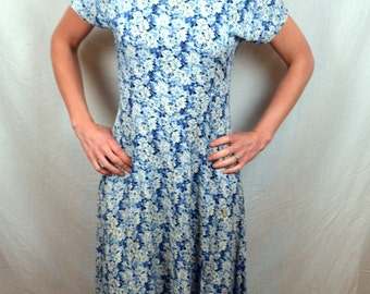 Vintage 80s 90s Summer Floral Maxi Dress by All that Jazz