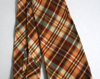 1950s copper mustard cream and black striped necktie