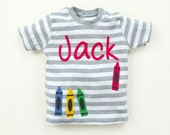 Personalized Baby T-shirt : 3-6 months, 6-12 months, 12-18 months, 18-24 months