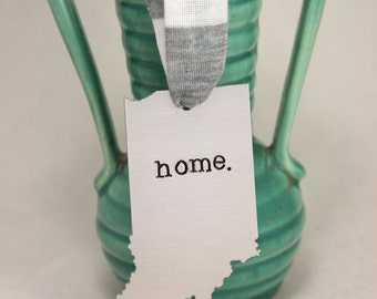 Indiana Ornament for Christmas-Hoosier- Wedding-Christmas Ornament-State of Indiana-Hoosier Love-made in Indiana-tyi-indy