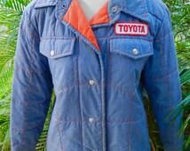 Toyota 1980s vintage jacket blue size small