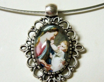 Madonna and child necklace - AP01-117