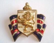 Unique dieu et mon droit related items etsy for Dieu et mon droit royal crest silver plated jewelry box