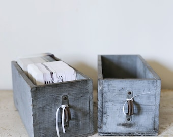 pair of wooden drawers