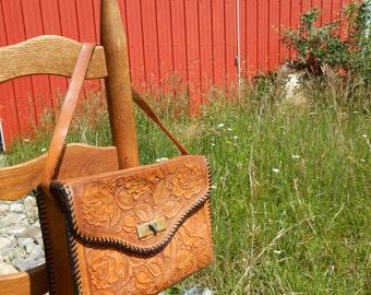 Vintage Embossed Leather Handbag