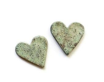 Magnets / Heart Magnet / Wedding favors / Valentine Heart / Stocking Stuffers / Valentine Gift / Salt Dough Magnets