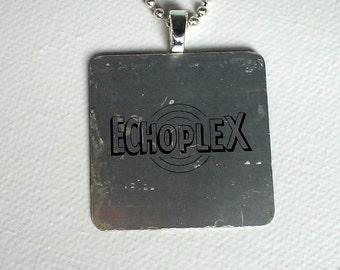 Echoplex- Unique Musicians's Pendant - Found Object Necklace