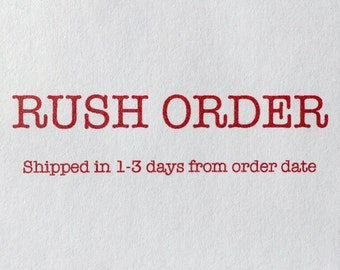 RUSH - Ships in 1-3 days from your order date