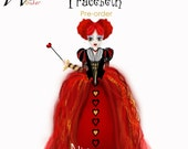 Red Queen Costume Girls Preorder for Alice 2016 – Kids Iracebeth Costume from Alice 2, 2016 Queen of Hearts, Alice Through the Looking Glass