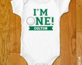 "Golf Party ""I'm One"" Iron-On Shirt Design - Choose child or onesie size - Choose a color"