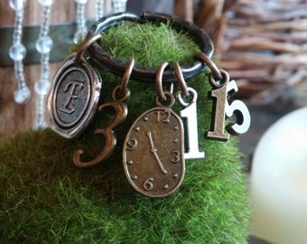SCRIPTURE KEYRING,  Christian jewelry, Ecclesiastes 3:1-15, There is a time for everything, trust God, God's timing, appointed time