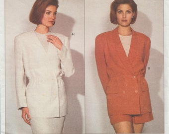 Vogue 2919 / Vintage Designer Sewing Pattern By Calvin Klein / Jacket / Sizes 8 10 12