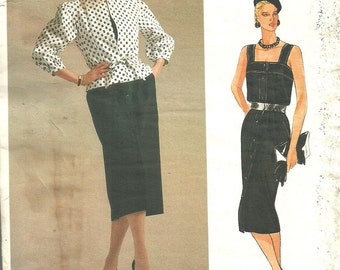 Vogue 1537 / Paris Original / Vintage Designer Sewing Pattern By Guy Laroche / Dress And Jacket / Size 12 Bust 34